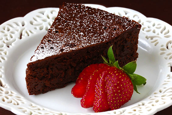Flourless and Sugar-Free Chocolate Cake